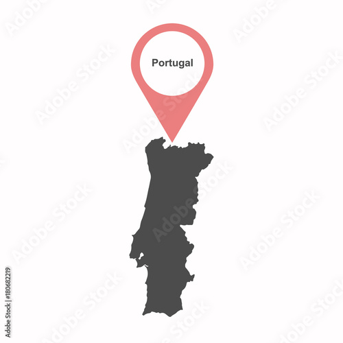 Portuguese-map-vector Poster