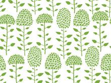Floral Seamless Pattern, Sketc...
