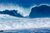 déferlante bleue à l'Etang-Salé-les-Bains, île de la Réunion