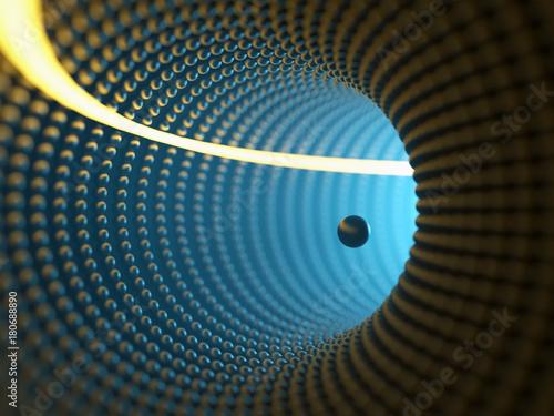 tunel-z-blekitnym-swiatlem
