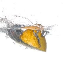 juicy lemon in water