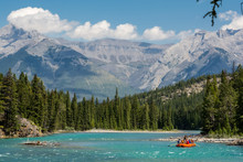 Rafting On The Bow River In Ba...