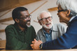 canvas print picture - senior friends spending time together