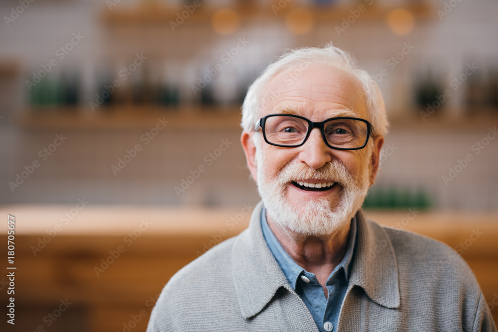 Fototapety, obrazy: happy senior man