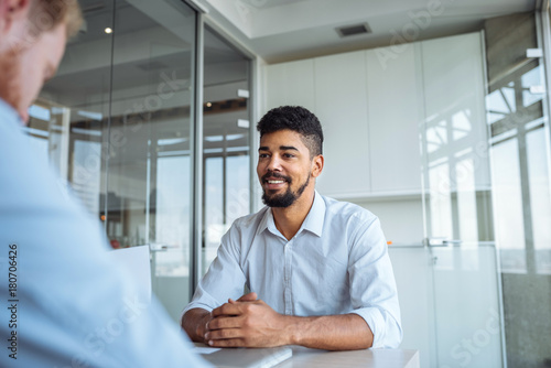 Fotografia  Bringing a positive attitude into business