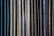 Colorful Luxurious Curtain Samples Display In A Retail Store