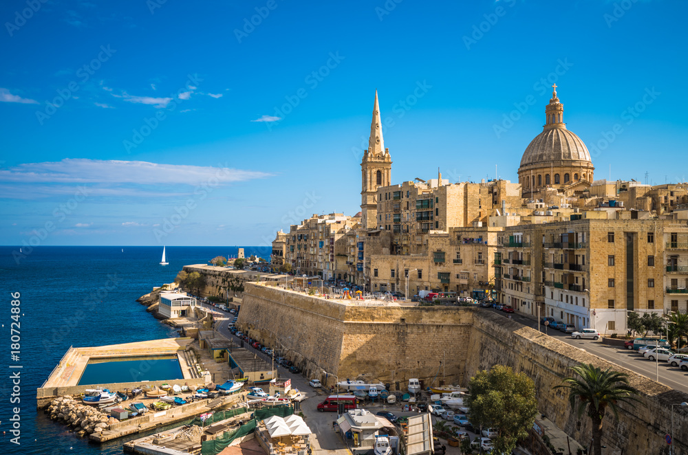 Fototapety, obrazy: View of Valletta, the capital of Malta