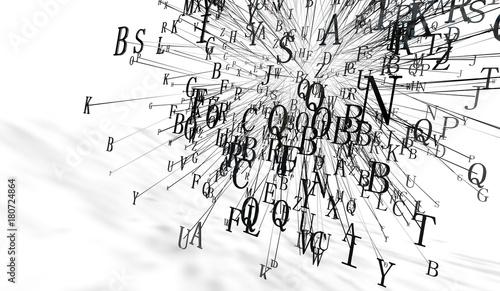 Fotografia, Obraz  Fondo abstracto con letras