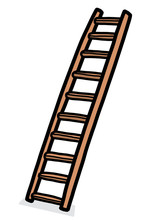 Long Ladder / Cartoon Vector A...