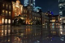 Tokyo Station Night View Refle...