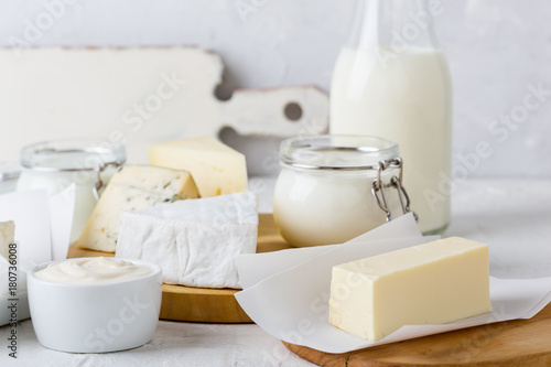 Tuinposter Zuivelproducten Fresh organic dairy products