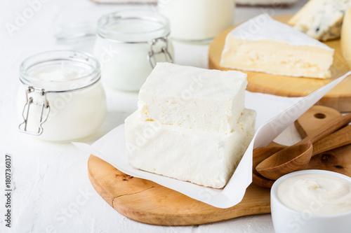 Fotobehang Zuivelproducten Fresh organic dairy products