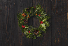 Christmas Wreath Decoration On...