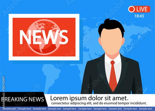 Foto Anchorman on tv broadcast news