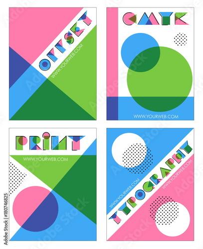 Retro offset print effect anaglyph designs Canvas Print