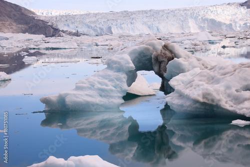 Fotobehang Gletsjers schmelzende Gletscher in der Diskobucht Grönland