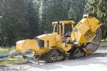 New Orange Road Construction Trencher