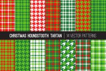 Christmas Houndstooth Tartan T...