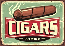 Cigars  Store Retro Sign Desig...