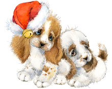 Dog Year Greeting Card. Cute P...