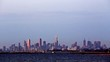 Melbourne, Australia. Establishing shot of skyline in the late afternoon.