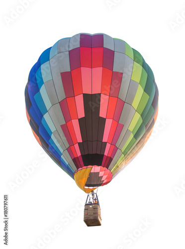 In de dag Ballon Colorful hot air balloon isolated on white background; clipping path