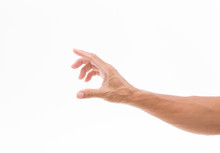 Man Hand Isolated On White Bac...
