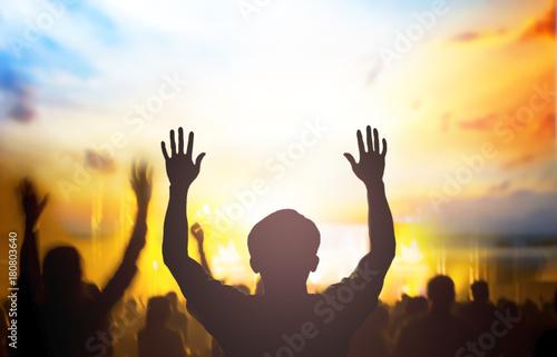Photo  Christians prayed together church Group,Human,Cross,Praying,Worship ,