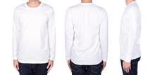 Man In White Long Sleeve T-shi...