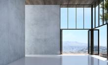 The Empty Lounge And Modern Li...