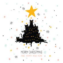 Cute Christmas Card With Chris...