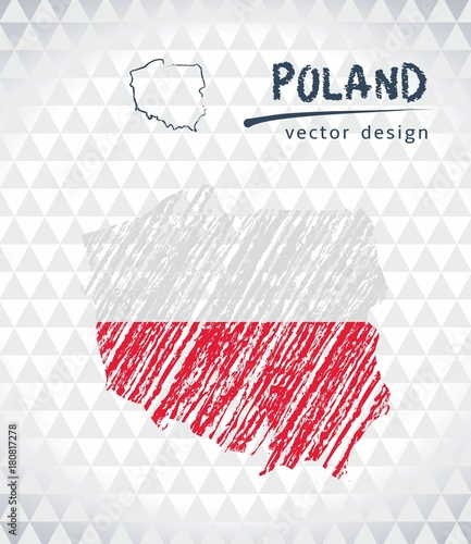 poland-vector-map-with-flag-inside-isolated-on-a-white-background-sketch-chalk-hand-drawn-illustration