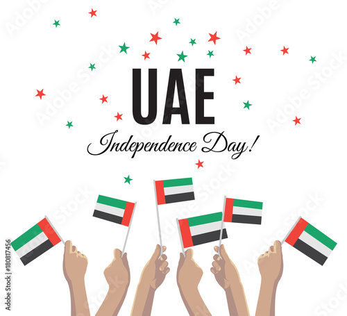 United arab emirates independence day placard banner or greeting united arab emirates independence day placard banner or greeting card vector illustration with uae m4hsunfo