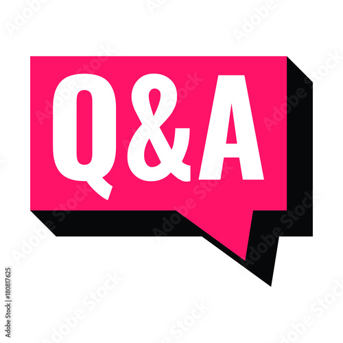 Photo  Q&A or question and answer