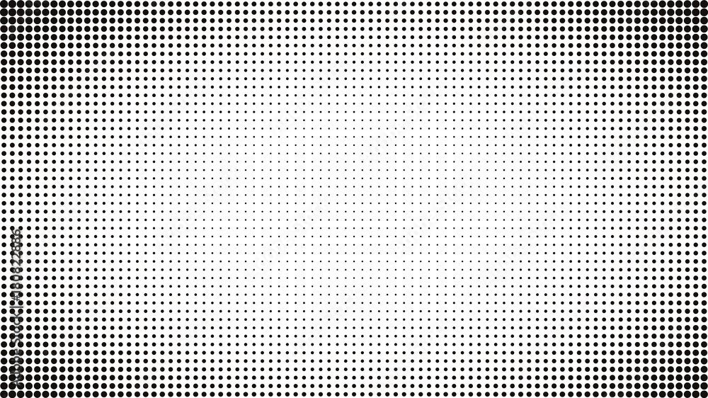 Fototapety, obrazy: Abstract black and white dots background. Comic pop art style. Light effect. Gradient background with dots.