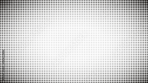 Tuinposter Pop Art Abstract black and white dots background. Comic pop art style. Light effect. Gradient background with dots.
