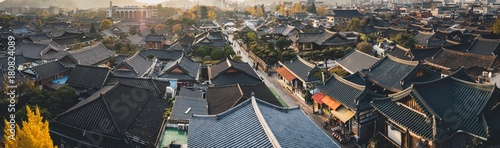 Photo sur Toile Gris Scenery of Jeonju Hanok Village