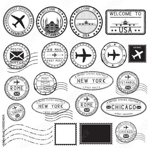 tourist stamps and postmarks collection of round ink stamps buy