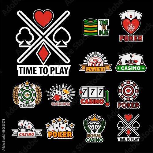 Photo  Casino poker logo templates. Vector set
