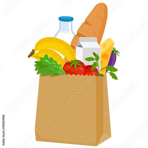 Fotografía  Paper bag with groceries