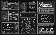 White On Black Sea Badges Vol. 2 For Any Use