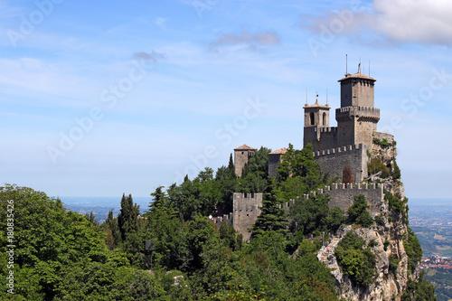 Rocca della Guaita San Marino fortress landscape Italy Wallpaper Mural