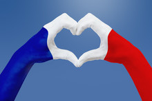 Hands Flag Of France, Shape A ...