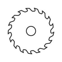Circular Saw Blade Linear Icon