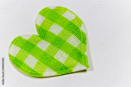 Fototapety, obrazy: Colored hearts with white background