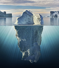 Iceberg With Above And Underwa...