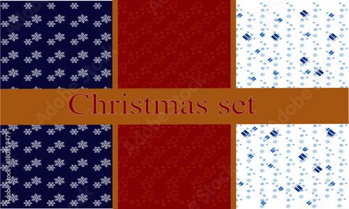 Fototapeta  New Year's pattern set obraz na płótnie