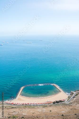 Foto op Canvas Onder water Gibraltar Sandy Bay