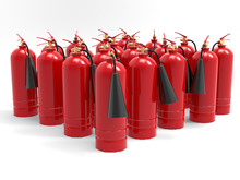 Group Of Fire Extinguishers 3d...