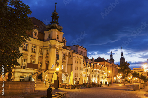 Recess Fitting Mediterranean Europe Legnica City Hall at evening